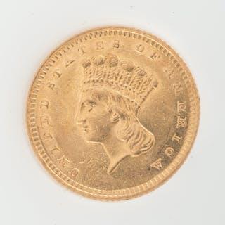 United States Gold Dollar Type 3 1862
