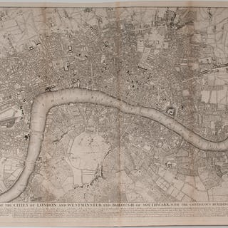 John Pine and John Tinney Plan of the Cities of London and Westminster