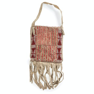 Sioux Beaded and Quilled Hide Pouch, From the James B. Scoville Collection