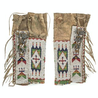 Sioux Beaded Hide Leggings, From the James B. Scoville Collection
