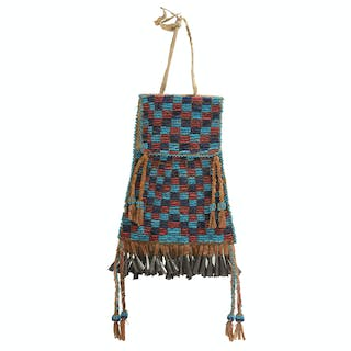 Apache Beaded Hide Bag, From the James B. Scoville Collection