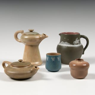 American Art Pottery Pitcher, Teapots, and Vessels