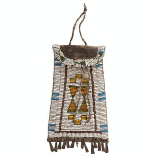 Southern Plains Beaded Hide Strike-a-Light Bag, From the James B.