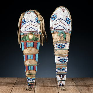 Pair of Plateau Beaded Hide Toy Cradles, From the James B. Scoville Collection