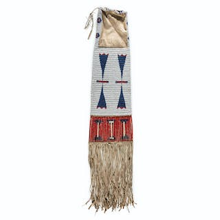 Sioux Beaded and Quilled Tobacco Bag, From the James B. Scoville Collection