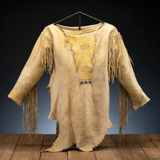 Comanche Beaded Hide Shirt, From the James B. Scoville Collection