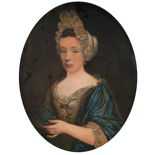 18th Century Portrait of Marie-Jeanne D'Aumale, Oil on Canvas