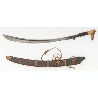 Dayak Parang Head Hunting Sword From Borneo