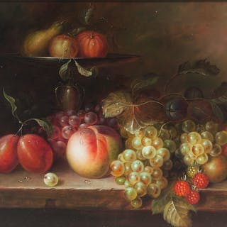 Still Life with Fruit, Signed Francois