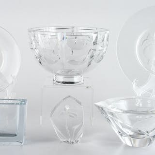 Orrefors, Orrefors Crystal Bowls and Vase, Plus