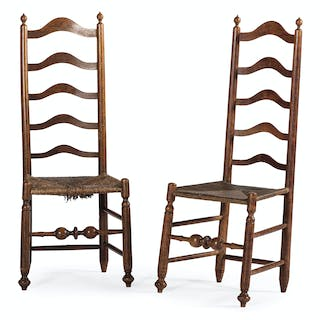 Early Maple Ladderback Chairs