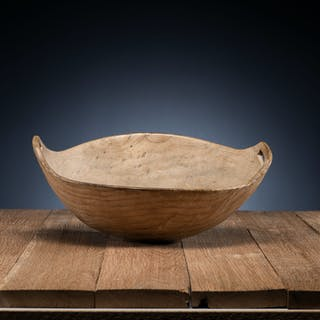 Great Lakes Carved Elm Bowl