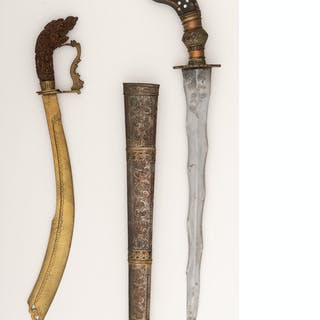 Lot of Two Southeast Asian Edged Weapons