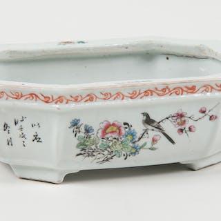 Chinese Famille Rose Bonsai Planter