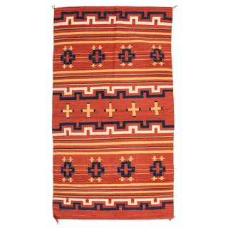 Navajo Child's Late Classic Blanket / Rug, From the Collection of