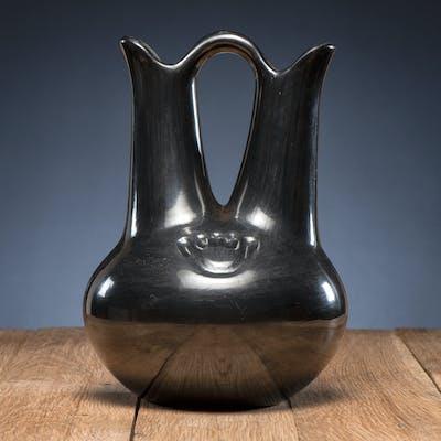 Margaret Tafoya (Santa Clara, 1904-2001) Pottery Wedding Vase