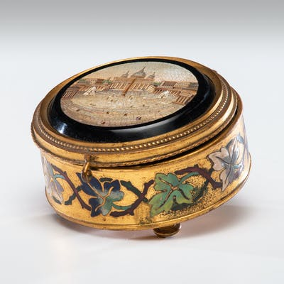 Grand Tour Micromosaic Dresser Box with St. Peter's