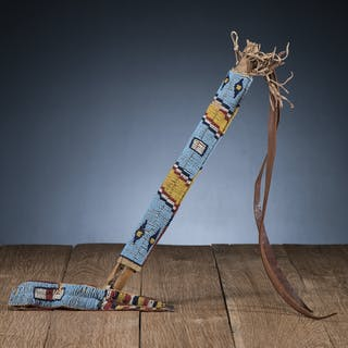 Northern Plains Beaded Quirt