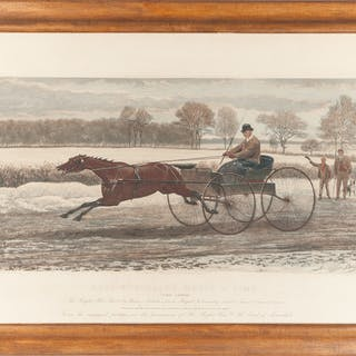 English Engravings, Lord Lonsdale's Match v. Time: First Course and