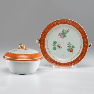 Chinese Export Tureen and Warming Tray