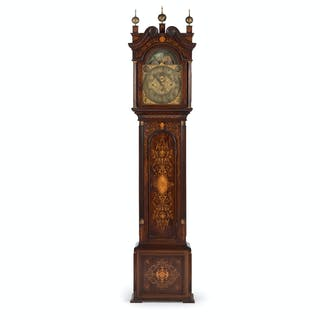 Marquetry Tall Case Clock