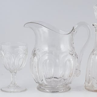 Crystal Glasses, Cordials, Pitcher, and Decanters