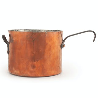 Massive Copper Cooking Pot by V. Olac & Sons, Philadelphia, V. Olac & Sons