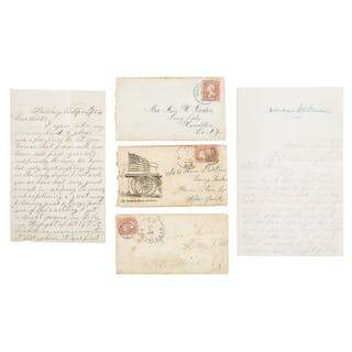 Civil War Letters of Charles Lamos, 1st Vermont Heavy Artillery, Lot of 13