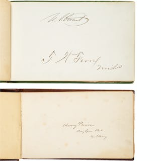 Pair of Civil War Autograph Books Containing Signatures of Union and