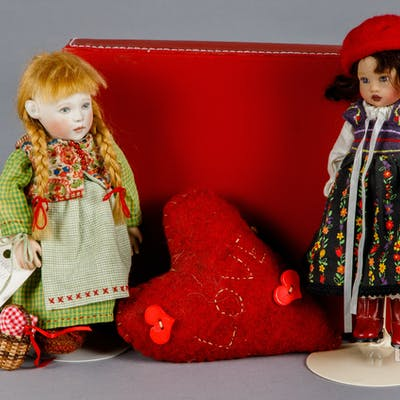 Two Contemporary dolls