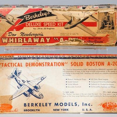 Five Berkeley Model airplane kits