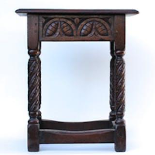 Antique Jacobean Style Stool Current Sales Barnebys Com