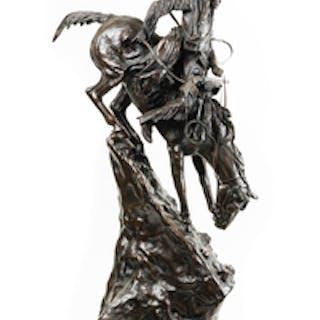 "Frederick Remington ""Mountain Man,"" Reproduction Bronze"