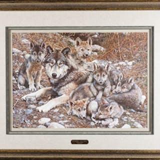 "Carl Brenders ""Den Mother - Wolf Family"" Print"