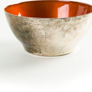 Towle Sterling and Enamel Bowl