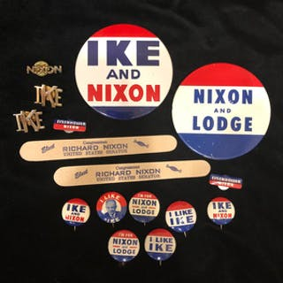 Ike and NIxon and Lodge Campaign Memorabilia