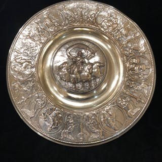 Elkington & Co Silver plate ink well