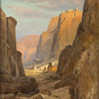 View of St. Catherine's Monastery at the foot of Mount Sinai - Ralph Gierhards