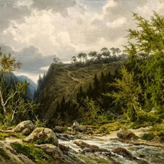 Mountain Stream in the Alps - Ralph Gierhards