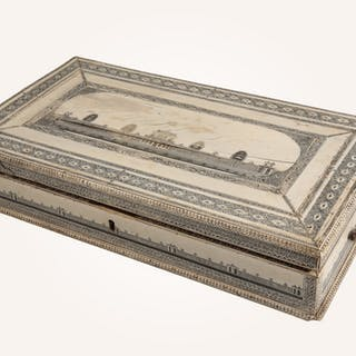 "An anglo-indian ""Vizagapatam"" ivory work box - Ralph Gierhards"