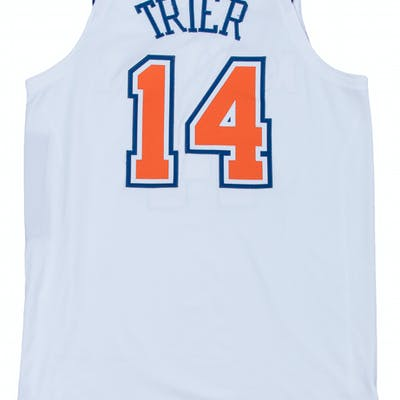 the best attitude bf388 41fe8 2018 Allonzo Trier Game Used New York Knicks White Statement ...