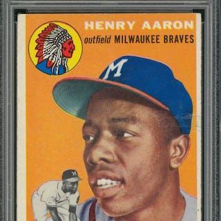 1954 Topps 128 Hank Aaron Rookie Card Psa Vg Ex 4