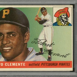 1955 Topps 164 Roberto Clemente Rookie Card Psa Ex 5