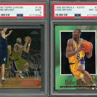 1996 Topps Chrome And Skybox Kobe Bryant Rookie Cards Psa