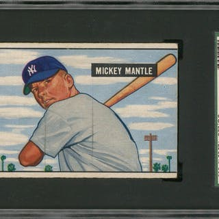 1951 Bowman 253 Mickey Mantle Rookie Card Sgc 30 Gd 2