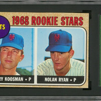 1968 Topps 177 Nolan Ryan Rookie Card Sgc 80 Exnm 6