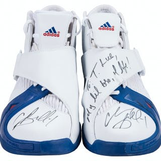 finest selection 2f97b cc17a 2005 Chauncey Billups Game Used, Signed   Inscribed Adidas Detroit –  Current sales – Barnebys.com