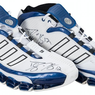 fbfd757e20190 2005 Dwight Howard Game Used & Signed Orlando Magic Adidas Sneakers ...