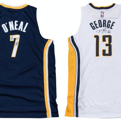 official photos 97310 8ce87 Lot of (2) Indiana Pacers Signed Jerseys - 2014 Paul George ...