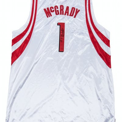 the latest c9e83 33394 2005-06 Tracy McGrady Game Used & Signed Houston Rockets ...